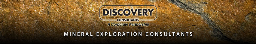 Discovery Consultants - A Corporate Partnership logo Mineral Exploration Consultants can collect data on rocks like this image to determine mineral content
